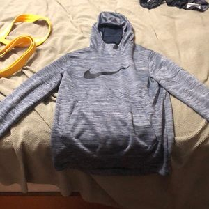 Nike pullover with front pocket and hood